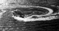 Проверка радиуса поворота катера