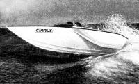 Прыжок катера с волны
