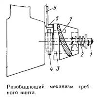 Разобщающий механизм гребного винта