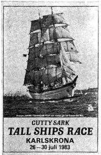 Рекламный плакат гонок «Катти Сарк»