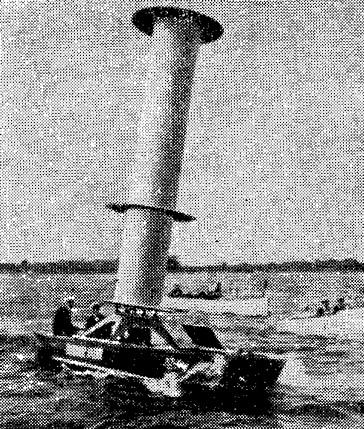 Рис. 10. Экспериментальная яхта-ротороход А. Флетнера (1925 г.)