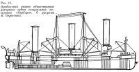 Рис. 11. Продольный разрез роторного судна постройки «Барбара»