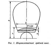 Рис. 1. Широколопастной гребной винт