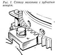 Рис. 1. Стопор маховика с зубчатым венцом