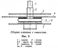 Рис. 2. Сборка клапана с емкостью