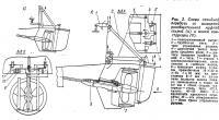 Рис. 2. Схема откидной передачи со шлицевой раэцбщительной муфтой старой и новой конструкции