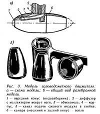 Рис. 3. Модель газоводометного движителя