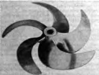 Рис. 3. Общий вид гребного винта с саблевидными лопастями