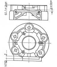 Рис. 3. Схема доработки картера для установки переходника магнето