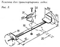 Рис. 3. Тележка для транспортировки лодки
