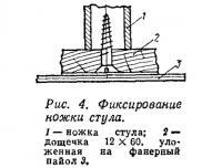 Рис. 4. Фиксирование ножки стула