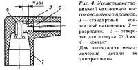 Рис. 4. Усовершенствованный наконечник высоковольтного провода