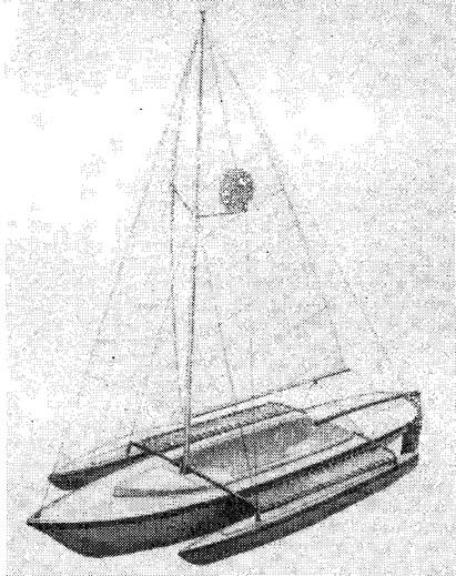 Рис. 6. Стеклопластиковый парусный тримаран