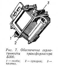 Рис. 7. Обеспечение герметичности трансформатора Б300