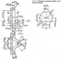 Рис. 7. Размеры сцепного шара и его расположение
