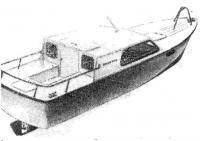 Рис. 9. Вариант водоизмещающего катера грузоподъемностью 800 кг