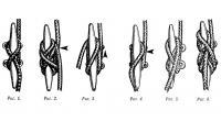 Рисунки 1-6. Крепление фалов и шкотов на утках