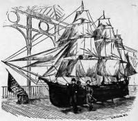 Рисунок корабля «Ред, уайт энд блю»