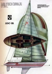Рисунок общего вида яхты «ЛЭС-35»