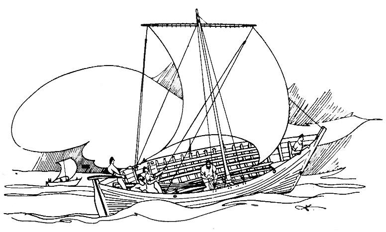 Рисунок «Рижского корабля»