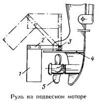 Руль на подвесном моторе