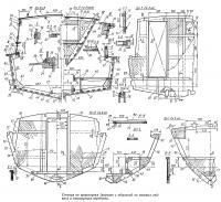 Сечения по шпангоутам и конструкция переборки
