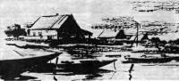 Село на берегу Волги