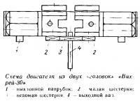 Схема двигателей из двух «головок» «Вихрей-30»