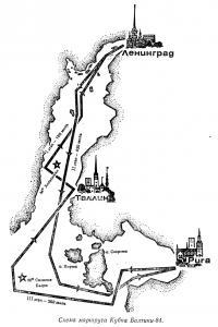 Схема маршрута Кубка Балтики-84