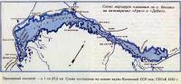 Схема маршрута плавания по озеру Балхаш