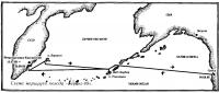 Схема маршрута похода «Беринг-89»