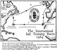 Схема маршрутов гонок Операции Парус-84