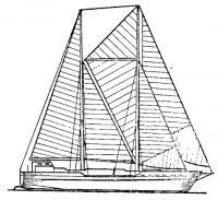 Схема парусного вооружения «Атлантик клипера»
