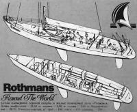 Схема планировки верхней палубы и жилых помещений яхты «Ротманс»