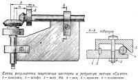 Схема регулировки зацепления шестерен в редукторе мотора «Салют»
