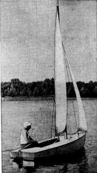 Шевцов на своей яхте «Пионер»