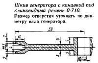 Шкив генератора с канавкой под клиновидный ремень 0-710