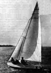 Швертбот «Тройка» под парусами