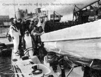 Советская команда на палубе двенадцатиметровика