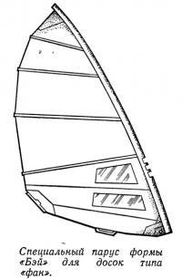 Специальный парус формы «Бэй» для досок типа «фан»