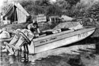 Спортивная модификация мотолодки «Обь-3»