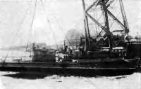 Спуск на воду серийного шхерного монитора «МБК». Фото 1943 г.