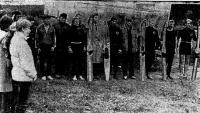 Студенты Индустриального института на своей воднолыжной базе
