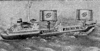 Танкер «Алтай» с двумя двухроторными АДК общей площадью парусности 300 м2