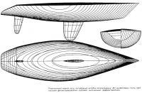 Теоретический чертеж яхты, построенный методом аппроксимации