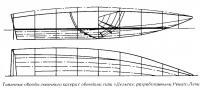 Типичные обводы гоночного катера с обводами типа «Дельта»