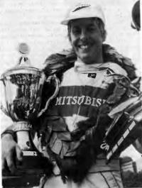 Тони Вильямс с трофеями соревнований