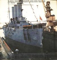 Торжественный момент спуска на воде крейсера «Аврора»