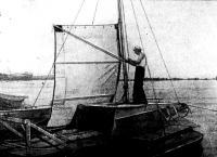 Тримаран А. Р. Гилева на воде
