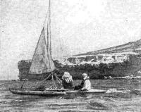 Тримаран А. Тимофеева во время плавания по Каспийскому морю